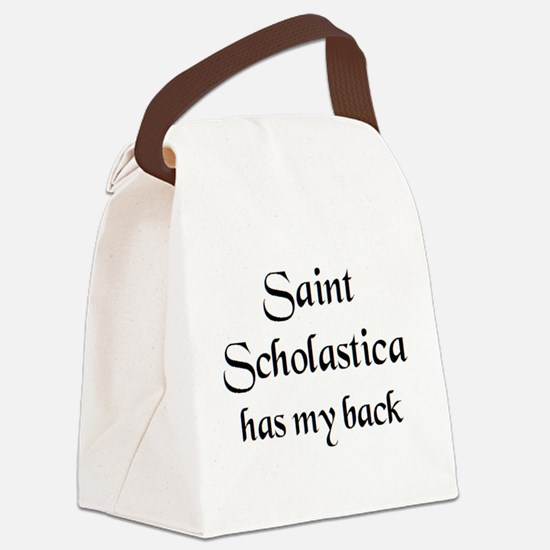 saint scholastica Canvas Lunch Bag