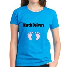 March Delivery With Pink Footprints T-Shirt