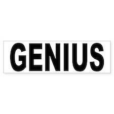 Genius Bumper Bumper Sticker