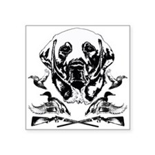 "Duck Hunter Labrador 2 Square Sticker 3"" x 3"""