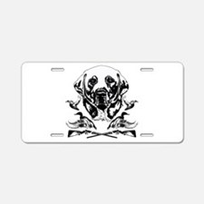 Duck Hunter Labrador 2 Aluminum License Plate