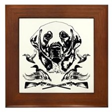 Duck Hunter Labrador 2 Framed Tile