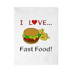 I Love Fast Food Twin Duvet