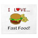 I Love Fast Food King Duvet
