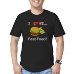 I Love Fast Food Men's Fitted T-Shirt (dark)