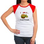 I Love Fast Food Women's Cap Sleeve T-Shirt