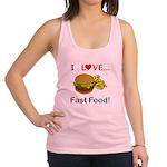 I Love Fast Food Racerback Tank Top
