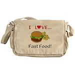 I Love Fast Food Messenger Bag