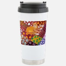Cat on Quilt Travel Mug