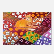 Cat on Quilt Postcards (Package of 8)