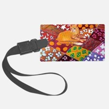 Cat on Quilt Luggage Tag