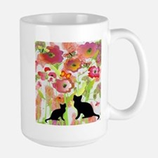Cats and Butterflies Watercolor Mugs