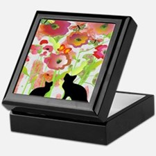 Cats and Butterflies Watercolor Keepsake Box