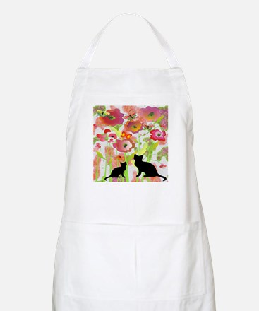Cats and Butterflies Watercolor Apron