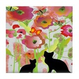 Crazy cat lady Drink Coasters