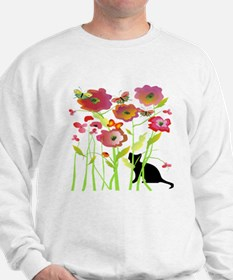 Cat and Butterflies Sweatshirt