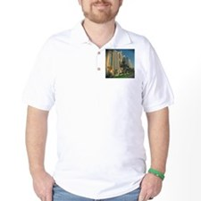 dubai, skyscrapers blue T-Shirt