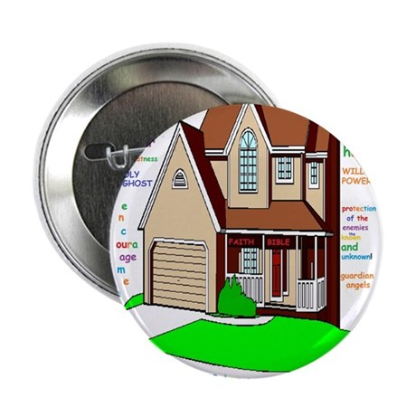 """Lord bless our home 2.25"""" Button"""