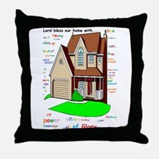 Lord bless our home Throw Pillow