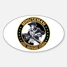 Minuteman Civil Defense Corps Oval Decal