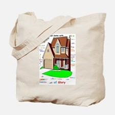 Lord bless our home Tote Bag