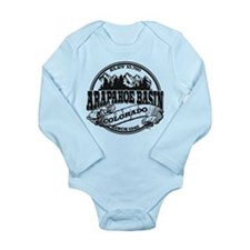 A-Basin Old Circle Black Long Sleeve Infant Bodysu