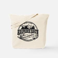 A-Basin Old Circle Black Tote Bag