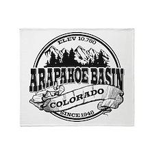 A-Basin Old Circle Black Throw Blanket