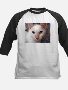 Cute Siamese cat fine art Tee