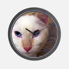 Flame point siamese cat Wall Clock
