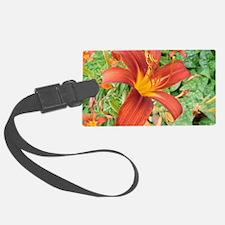 Red Macro Flower Luggage Tag