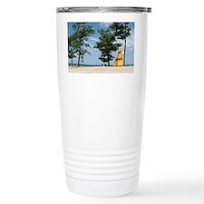 sailboard beach scene  Travel Mug
