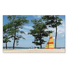 sailboard beach scene  Decal