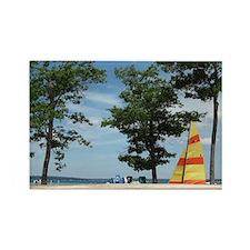 sailboard beach scene  Rectangle Magnet