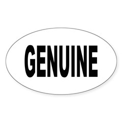 Genuine Oval Sticker