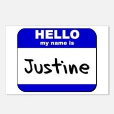 hello my name is justine  Postcards (Package of 8)