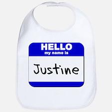 hello my name is justine  Bib