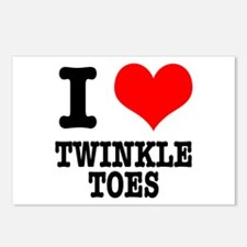 I Heart (Love) Twinkle Toes Postcards (Package of