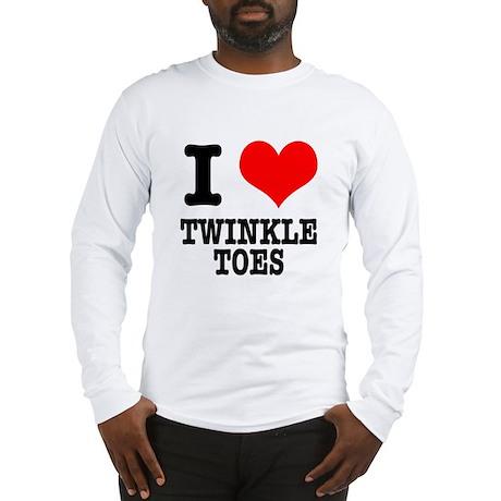I Heart (Love) Twinkle Toes Long Sleeve T-Shirt