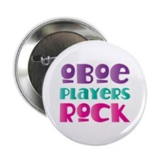 "Oboe Players Rock 2.25"" Button"