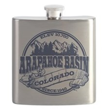 A-Basin Old Circle Blue Flask