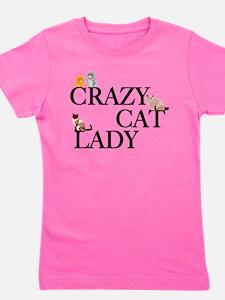 Crazy Cat Lady Girl's Tee