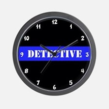 Police Detective Thin Blue Line Wall Clock