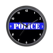 Police Thin Blue Line Wall Clock