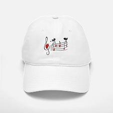 Cute Musical notes and love Birds Baseball Baseball Baseball Cap