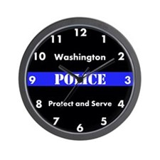 Washington Police Wall Clock
