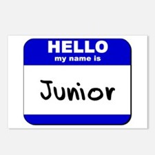 hello my name is junior  Postcards (Package of 8)