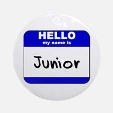 hello my name is junior  Ornament (Round)