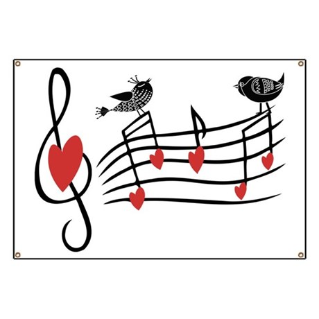 photograph about Large Printable Music Notes titled Substantial Printable Songs Observe Banner track record