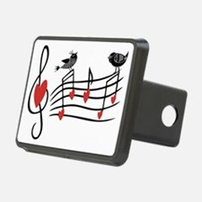 Cute Musical notes and love Birds Hitch Cover